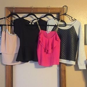 Set of 4 tops size small